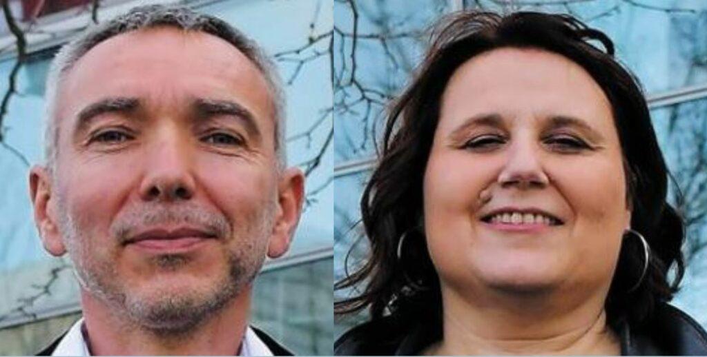 visages d'un homme et une femme