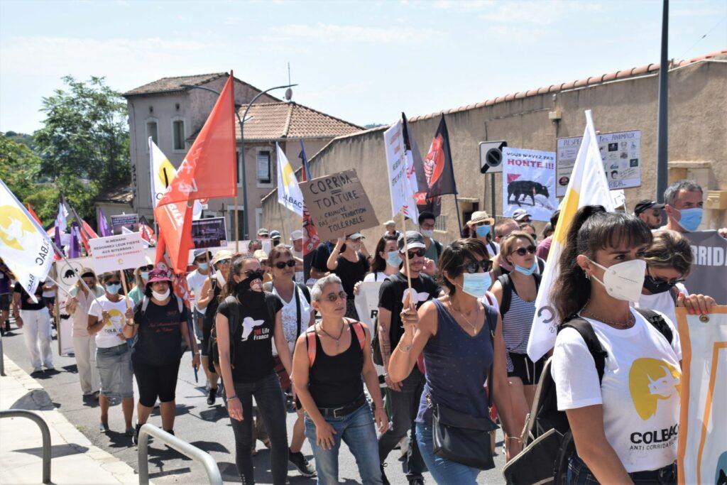 des manifestants