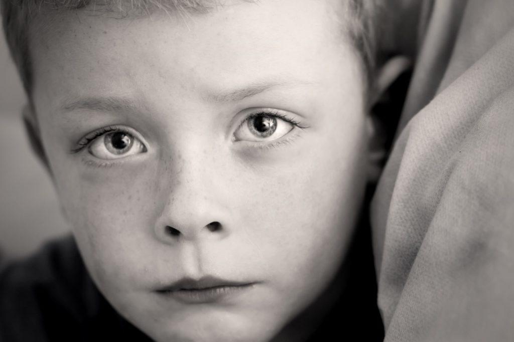 un visage d'enfant