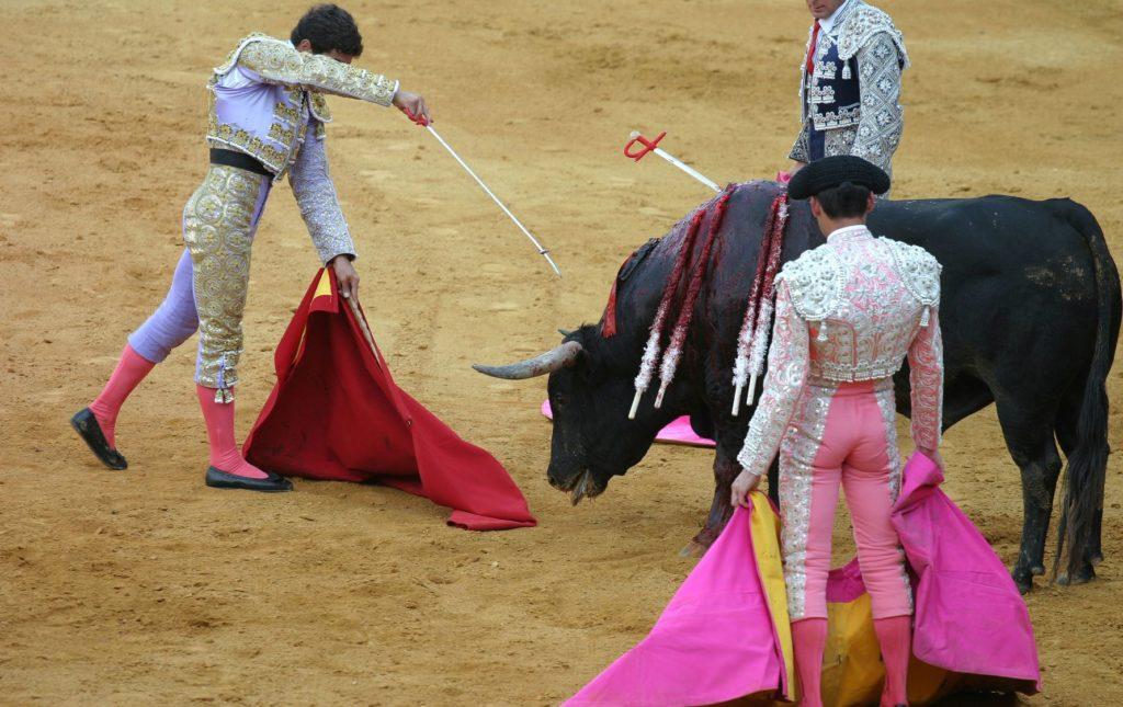 3 hommes et un taureau