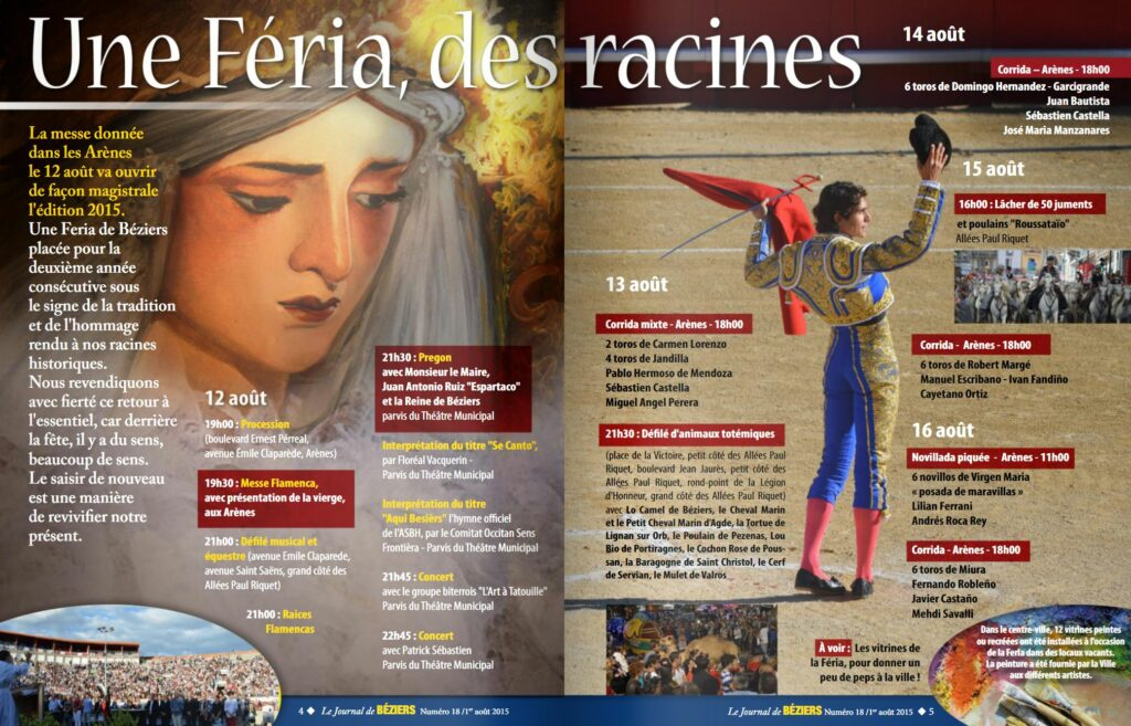 page d'un magazine